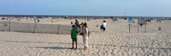 Jones Beach State Park, home of 6.5 miles of beautiful white-sand beach on the Atlantic Ocean